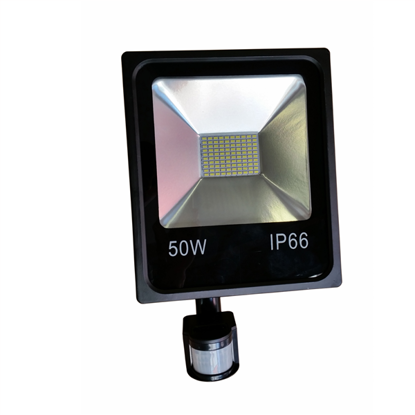 Εικόνα της LED Προβολέας SMD 50 Watt με Ανιχνευτή Κίνησης Φυσικό Λευκό