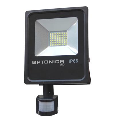Εικόνα της LED Προβολέας SMD 10 Watt με Ανιχνευτή Κίνησης Θερμό Λευκό