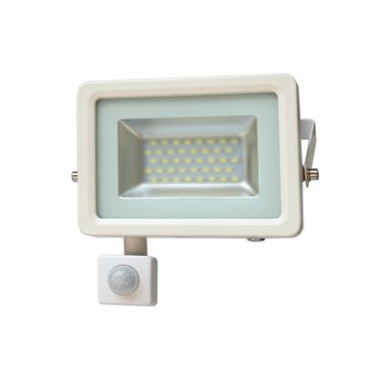 Εικόνα της LED Προβολέας Slim SMD I-Desing 20 Watt με Ανιχνευτή Κίνησης Θερμό Λευκό