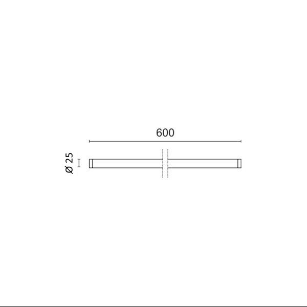 Εικόνα της Λάμπα Nano Plastic φθορίου T8 Led 60cm T8 9W 1050Lm Φυσικό λευκό