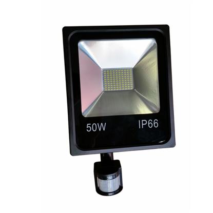 Εικόνα της LED Προβολέας SMD 50 Watt με Ανιχνευτή Κίνησης Ψυχρό Λευκό