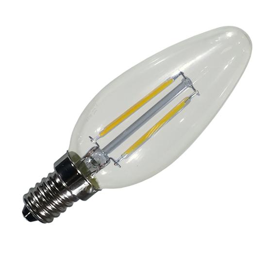 Εικόνα της Filament E14 Λάμπα Led Κερί 4W 400Lm Φυσικό λευκό