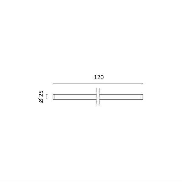 Εικόνα της Λάμπα Nano Plastic φθορίου T8 Led 120cm T8 18W 2150Lm Φυσικό λευκό