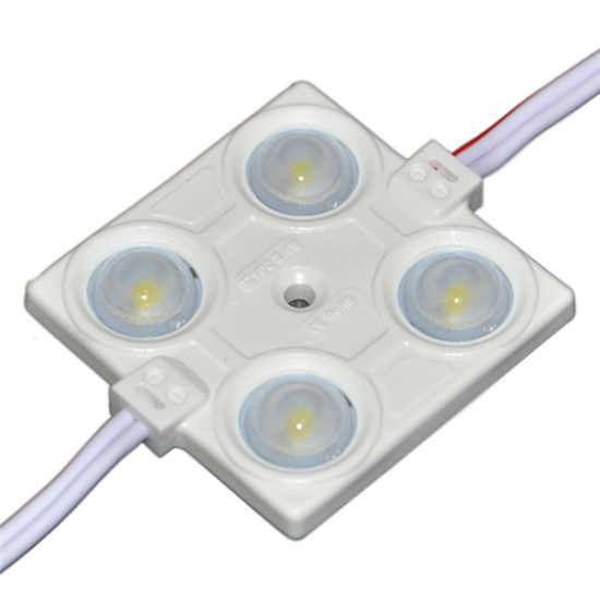 Εικόνα της LED LENS MODULE 4 2835 160° DC12V 2.4W IP65 6500K