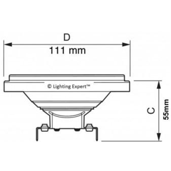 Εικόνα της Λαμπτήρας Led AR111 30° 15Watt Θερμό λευκό