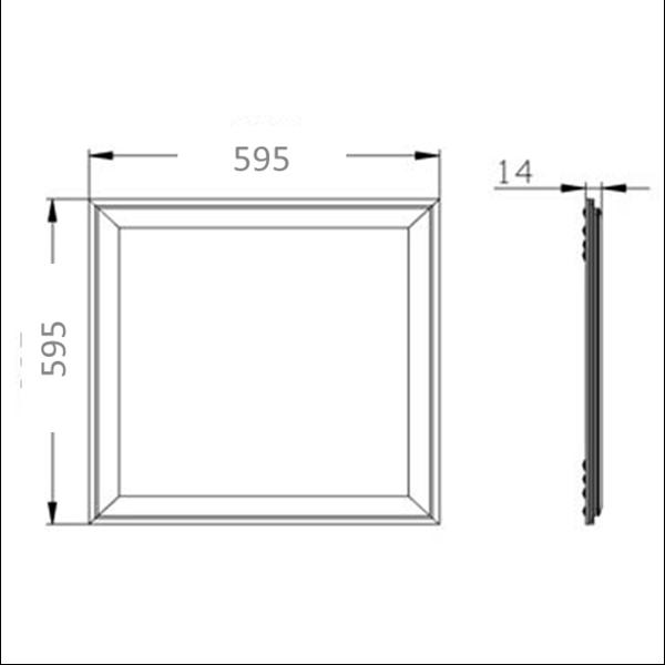 Εικόνα της Panel Led 60cm*60cm 40w 120Lm/w Ψυχρό Λευκό