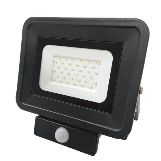 Εικόνα της LED Προβολέας SMD 30 Watt  Classic Line2 με Ανιχνευτή Κίνησης Ψυχρό Λευκό Μαύρος
