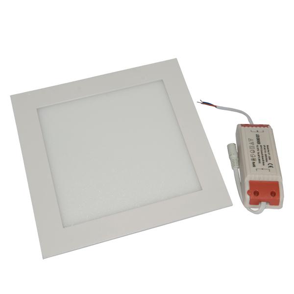 Εικόνα της Φωτιστικό οροφής τετράγωνο panel Led χωνευτό 12watt Θερμό λευκό