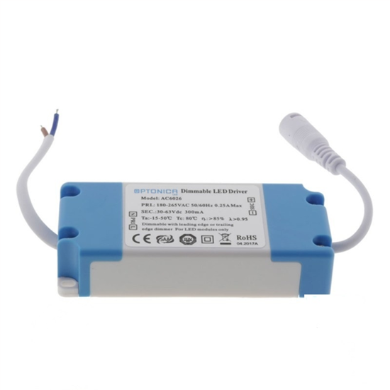 Εικόνα της Dimmable Led Driver για Mini Panel 10-18Watt 300MA