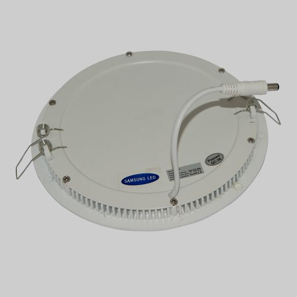 Εικόνα της Φωτιστικό οροφής στρογγυλο panel Led χωνευτό 12watt Θερμό λευκό
