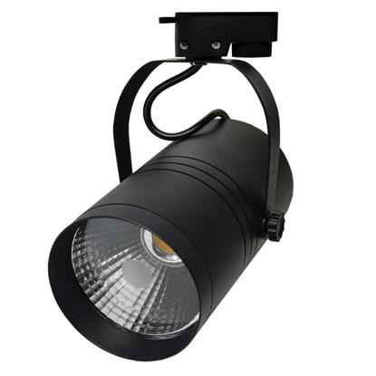 Εικόνα της LED Interior Track Light Μάυρο COB 25W Θερμό Λευκό