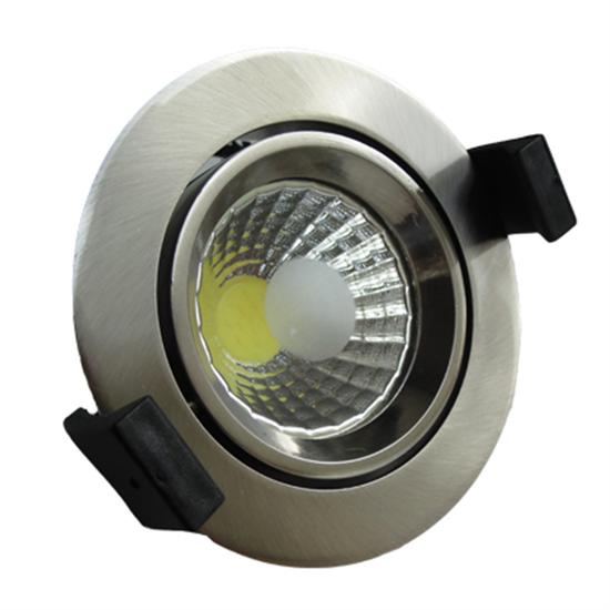 Εικόνα της Στρογγυλό Σποτ Led  Χωνευτό Κινητό 8 Watt Θερμό Λευκό Inox