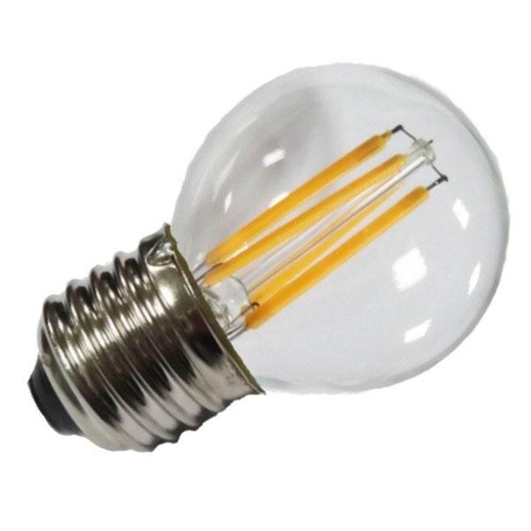 Εικόνα της Filament E27 Λάμπα Led G45 2W 200Lm Θερμό λευκό