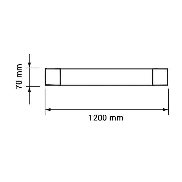 Εικόνα της Led Φωτιστικό Γραμμικό IP20 120CM 40W 6000K