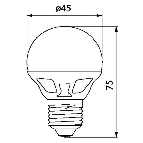 Εικόνα της Filament E27 Λάμπα Led G45 4W 400Lm Ψυχρό λευκό