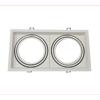 Εικόνα της Βάση Σποτ Διπλή AR111 Τετράγωνο Κινητό Λευκή