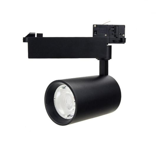 Εικόνα της Led Φωτιστικό Ράγας Μαύρο 35watt 4000K Φυσικό Λευκό