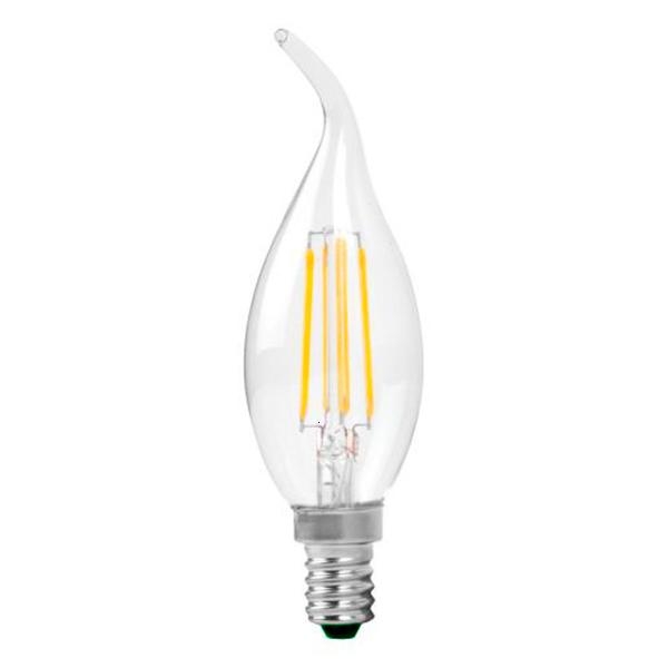 Εικόνα της Filament E14 Λάμπα Led Φλόγα 4W 400Lm Θερμό λευκό