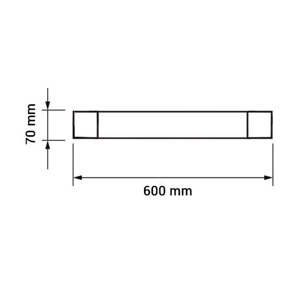 Εικόνα της Led Φωτιστικό Γραμμικό IP20 60CM 20W 4000K