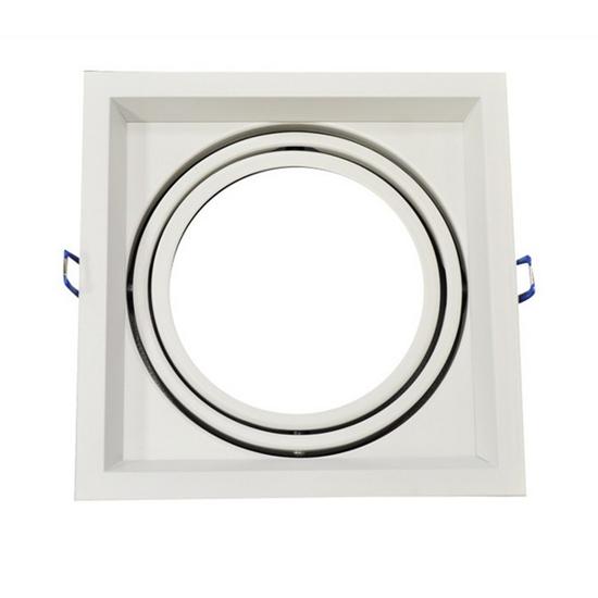 Εικόνα της Βάση Σποτ Μονή AR111 Τετράγωνη Κινητή Λευκή