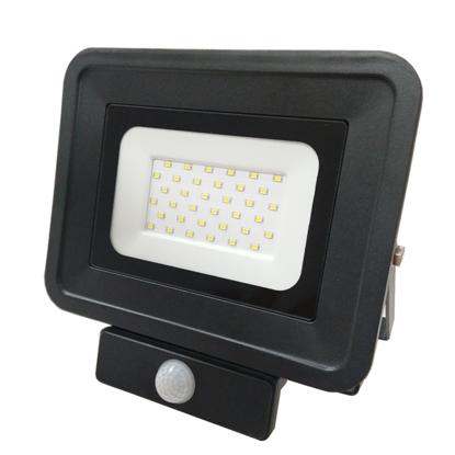 Εικόνα της LED Προβολέας SMD 50 Watt  Classic Line2 με Ανιχνευτή Κίνησης Φυσικό Λευκό Μαύρος