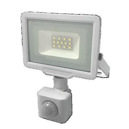 Εικόνα της LED Προβολέας 10 Watt  City Line με Ανιχνευτή Κίνησης Θερμό Λευκό