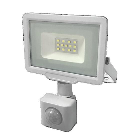 Εικόνα της LED Προβολέας 10 Watt  City Line με Ανιχνευτή Κίνησης Φυσικό Λευκό