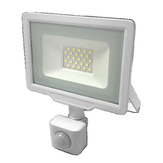 Εικόνα της LED Προβολέας 20 Watt  City Line με Ανιχνευτή Κίνησης Ψυχρό Λευκό