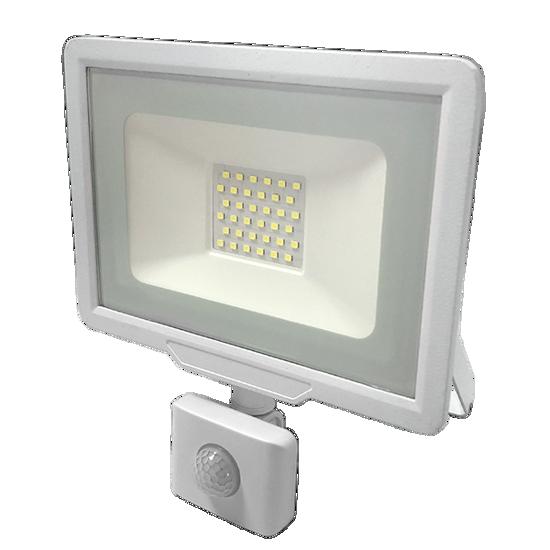 Εικόνα της LED Προβολέας 30 Watt  City Line με Ανιχνευτή Κίνησης Φυσικό Λευκό