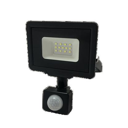 Εικόνα της LED Προβολέας 10 Watt  City Line με Ανιχνευτή Κίνησης Ψυχρό Λευκό Μαύρος