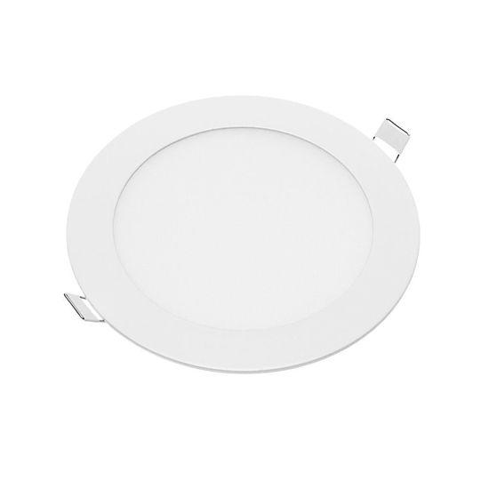 Εικόνα της LED Mini Panel Στρογγυλό Χρωματική Λορίδα 12W Θερμό Λευκό