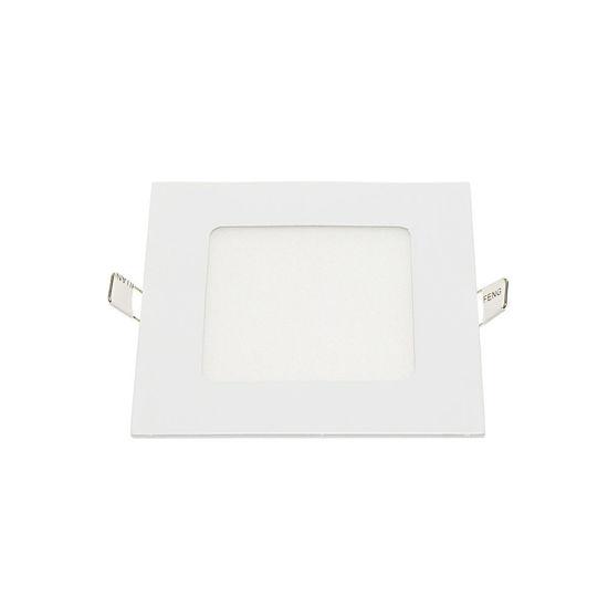 Εικόνα της LED Mini Panel Τετράγωνο Χρωματική Λορίδα 12W Θερμό Λευκό