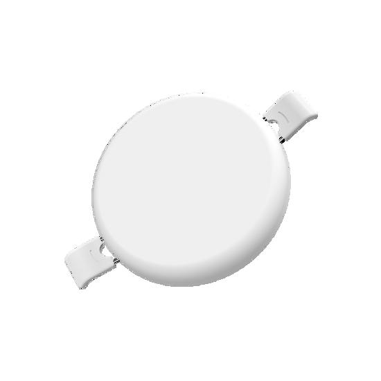 Εικόνα της LED Panel Χωρίς Πλαίσιο Στρογγυλό 24W Θερμό Λευκό