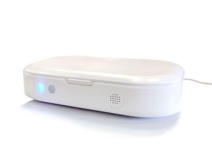 Εικόνα της Φορητή θήκη πολλαπλών λειτουργιών UV-C Λευκό
