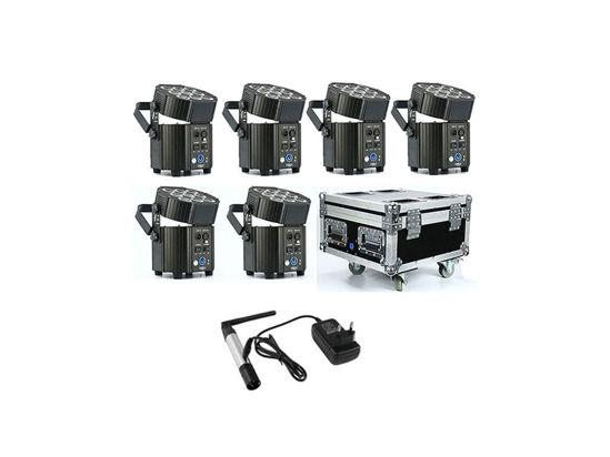 Εικόνα της 9*10W RGBA+UV 6 σε1 LED PAR Φορτιστης F. Ασυρματος Πομπος 90W RGBW