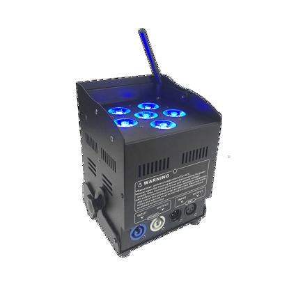 Εικόνα της 6+10W RGBA+UV 6 σε1 Μπαταρία LED PAR 60W RGBW