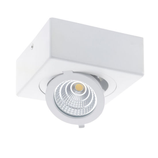 Εικόνα της LED COB Επιφανειακό Σπότ Τετραγωνο Ρυθμιζόμενο 12W Θερμό Λευκό