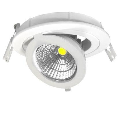 Εικόνα της LED COB Adjustable Downlight Στρογγυλό 12W Θερμό Λευκό