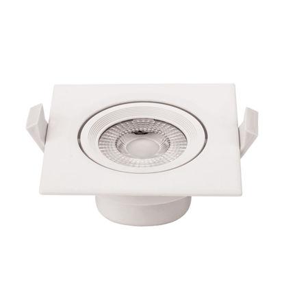 Εικόνα της LED COB Downlight Τετράγωνο Περιστρεφόμενο 5W Φυσικό Λευκό