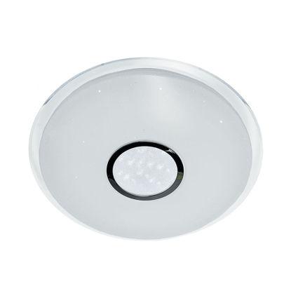 Εικόνα της LED Φωτιστικό Οροφής Εναλλαγής Χρωμάτων 3000K-6400K Matt Λευκό + Dotty Sparkle 40W Ψυχρό Λευκό