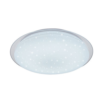 Εικόνα της LED Φωτιστικό Οροφής Εναλλαγής Χρωμάτων 3000K-6400K Matt Λευκό + Dotty Sparkle 60W Ψυχρό Λευκό