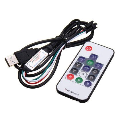 Εικόνα της Ψηφιακός Controller Για Ταινίες LED + Τηλεχειριστήριο 14 Κουμπιά